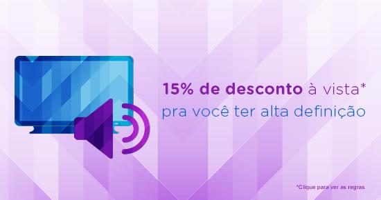Tá na hora, tá na hora: de trocar sua TV com 15% de desconto
